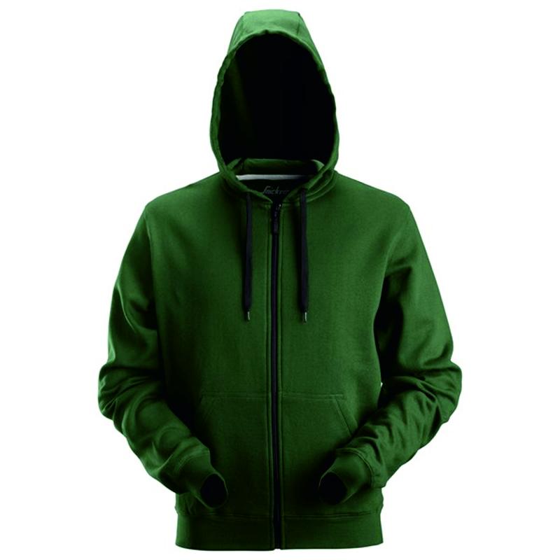 Snickers zip hoodie 2801 forest green