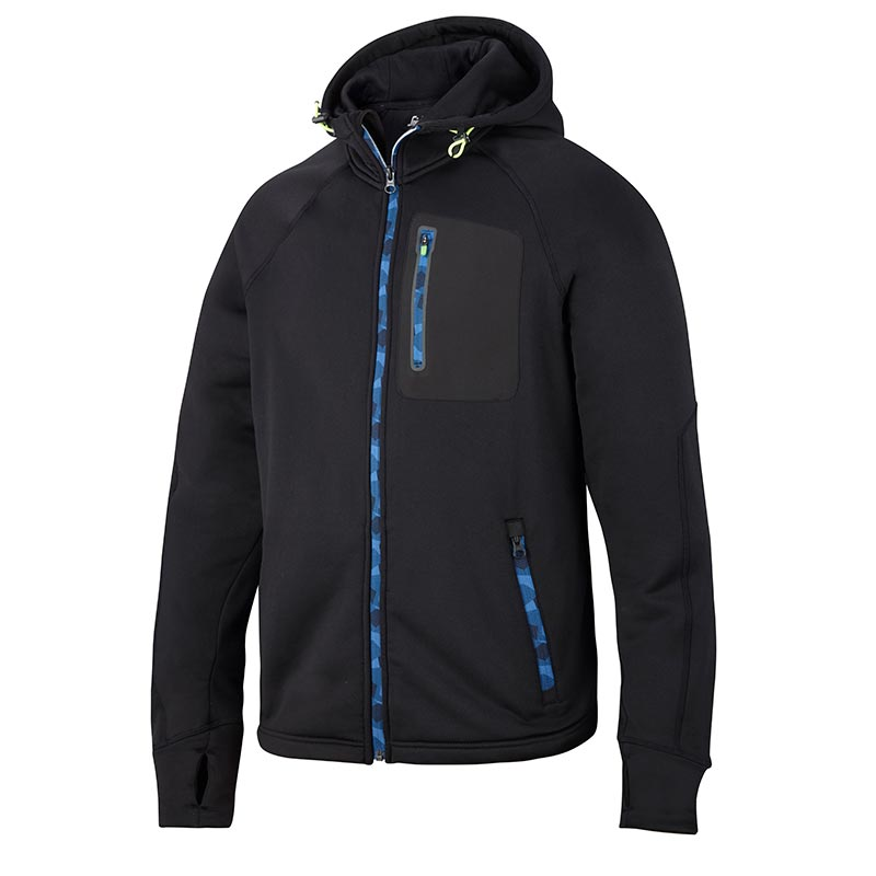 Snickers 8000 FlexiWork Stretch Fleece Hoodie-0400