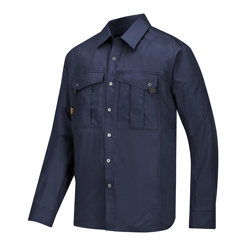 Snickers Rib Stop Shirt lange mouwen 8508-9500