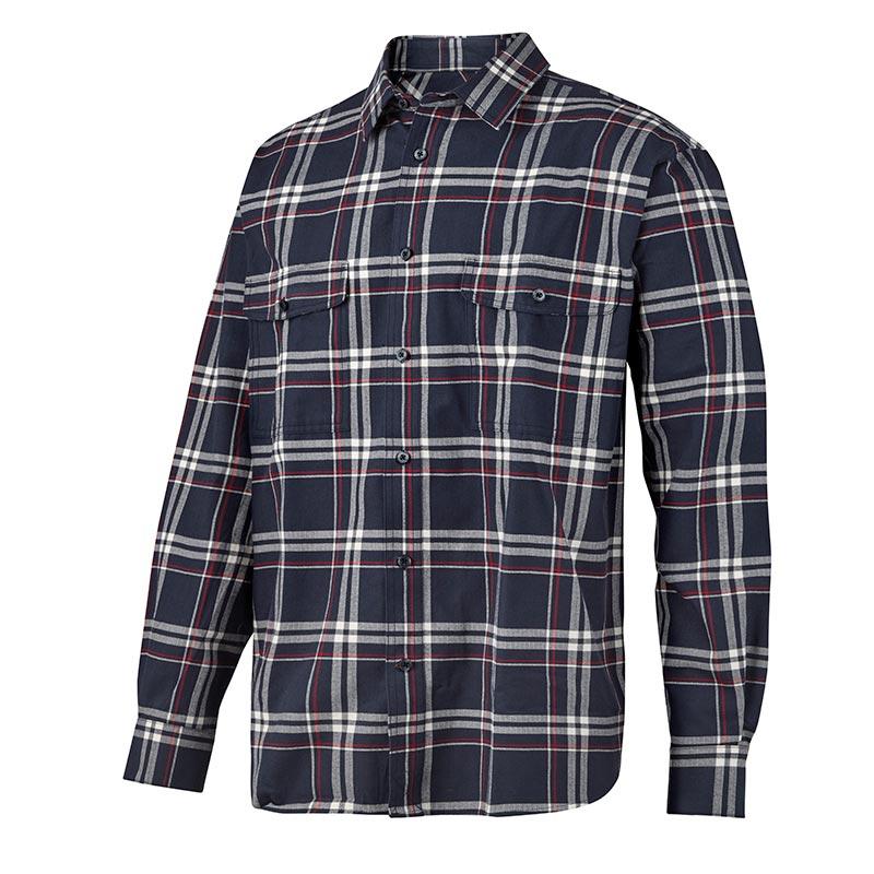 Snickers Ruffwork Geruit Flanellen Shirt met Lange Mouwen 8502-9516