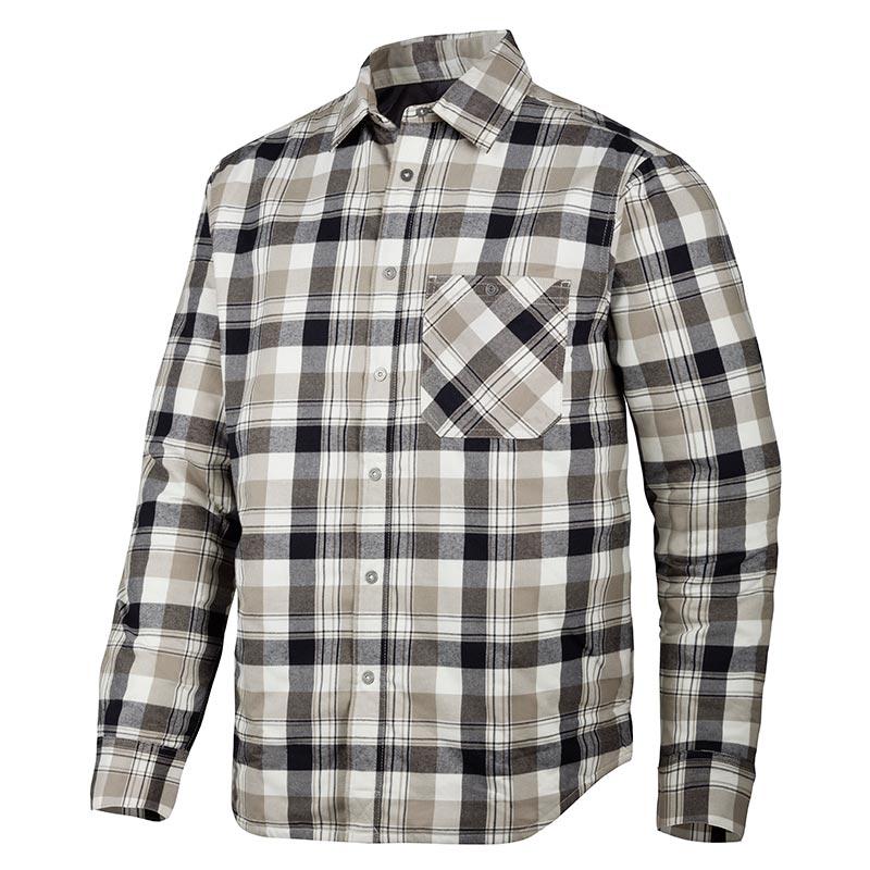 Snickers Ruffwork Geruit Gevoerd Flanellen Shirt met Lange Mouwen 8501-0420