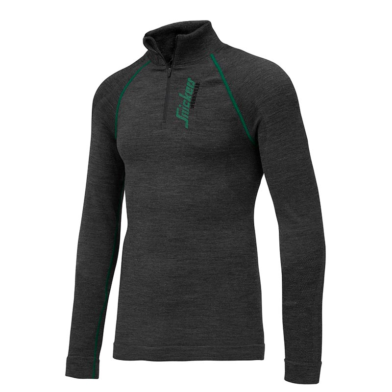 Snickers 9441 FlexiWork Seamless Wollen Shirt met lange mouwen 9441-9800