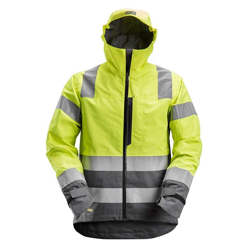 Snickers 1330 AllroundWork High-Vis Waterproof Shell Jack 6658