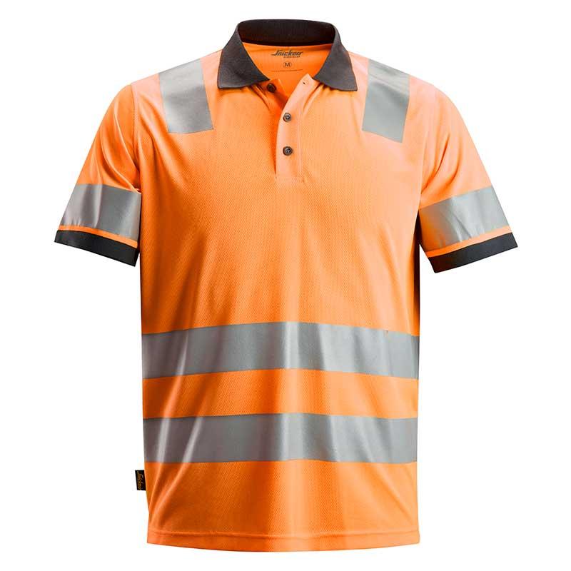 Snickers 2730 AllroundWork High Vis Polo Shirt Klasse 2 2730-5500