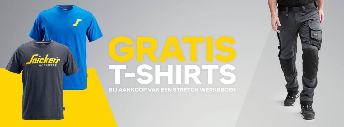 gratis shirt bij aankoop van een stretchbroek