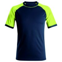 Snickers neon t-shirt 2505 navy-neon yellow