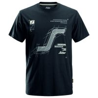 Snickers t-shirt 2522 steelgrey-navy