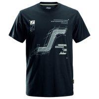 Snickers t-shirt 2522 steelgrey-navy