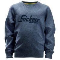 Snickers junior sweater 7509 darkblue melange