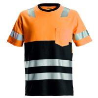 Snickers 2534 High-vis t-shirt oranje-zwart