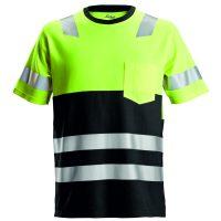 Snickers 2534 High-vis t-shirt geel-zwart